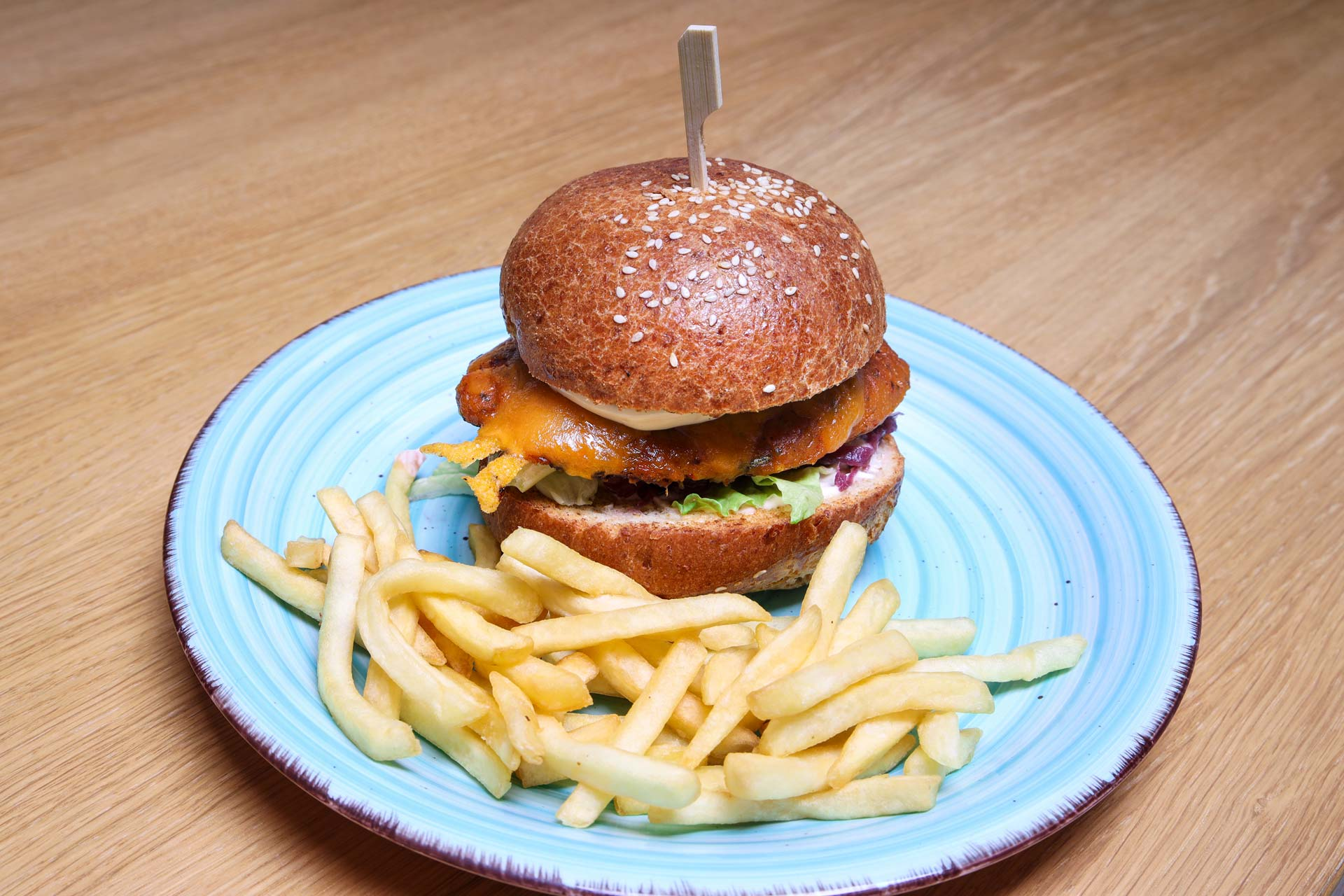 Vegeburger s dýní hokaido