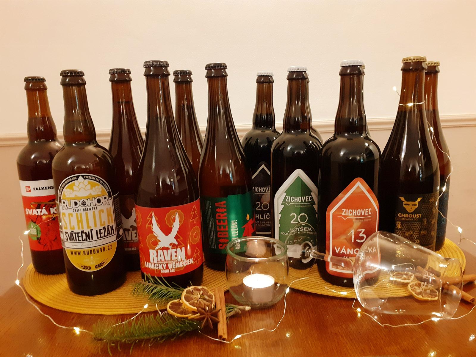 Vánoční piva v naší pivotéce