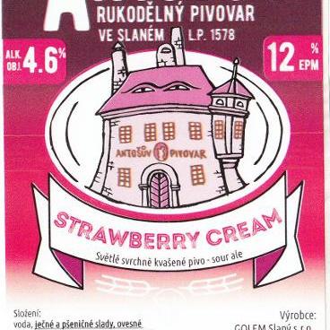 Strawberry cream – Antošův rukodělný piovar, Slaný