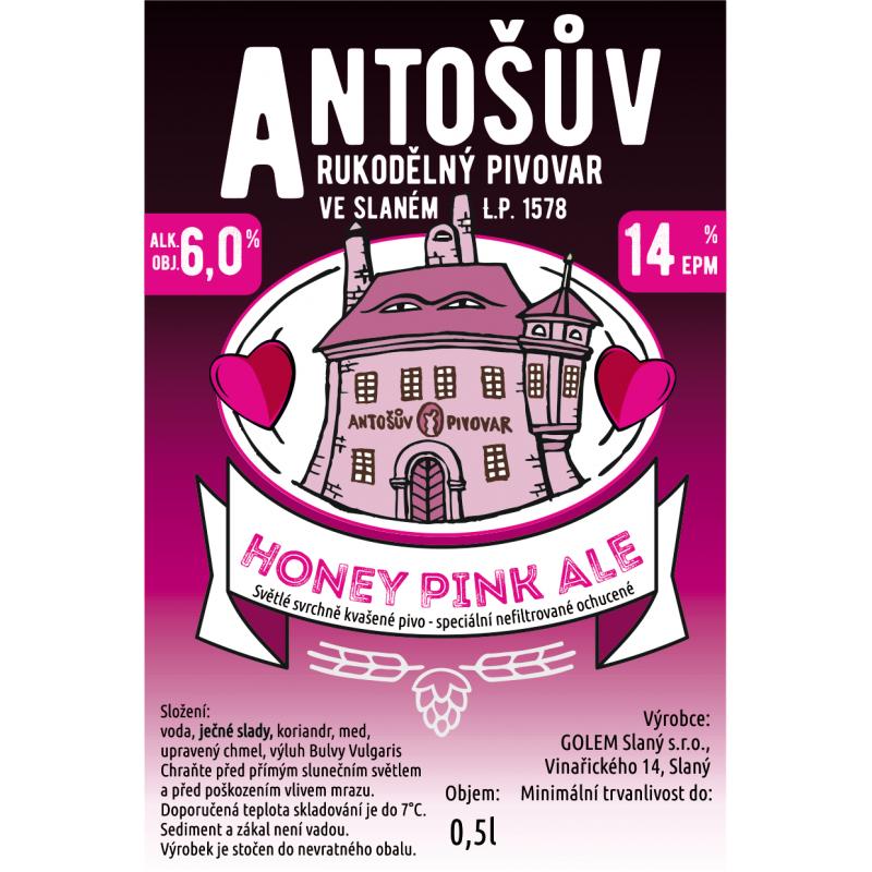 Honey Pink Ale – Antošův rukodělný pivovar, Slaný