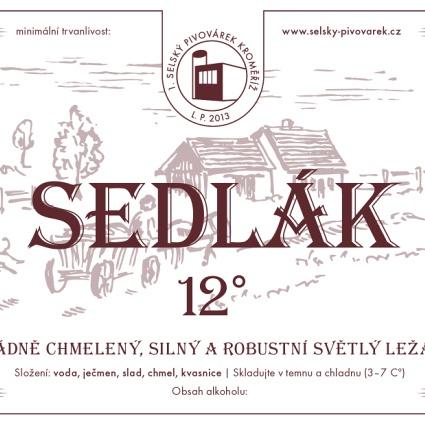 Sedlák 12° – 1. selský pivovárek Kroměříž