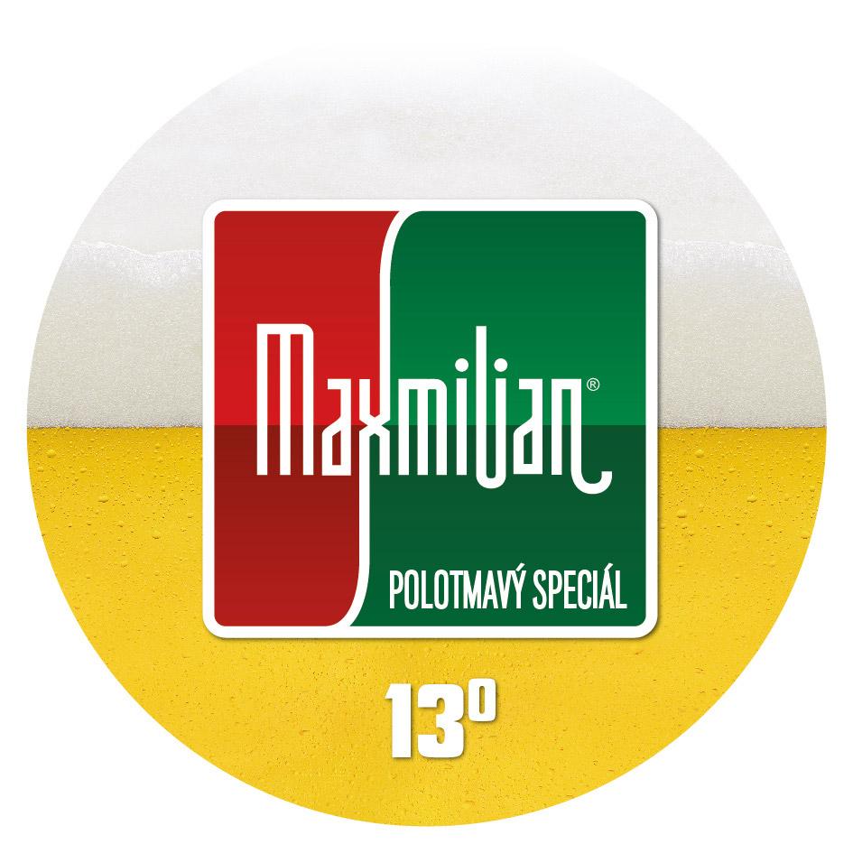 Maxmilian polotmavý speciál 13° – Pivovar Kroměříž